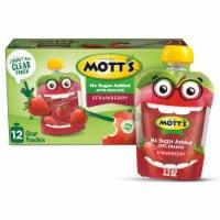 Mott's No Sugar Added Strawberry Applesauce Pouches