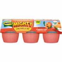Mott's Mighty Strawberry Peach Applesauce - 6 ct / 4 oz