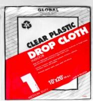 Z-Pro® Global Guard Plastic Indoor 1-Milimeter Drop Cloth - Clear