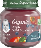 Gerber Organic 2nd Foods Apple Wild Blueberry Baby Food