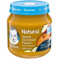 Gerber 2nd Foods Natural Apple Zucchini Peach Stage 2 Baby Food