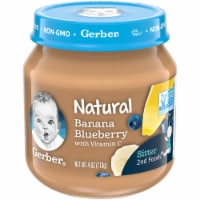 Gerber 2nd Foods Banana Blueberry Stage 2 Baby Food