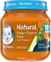 Gerber 2nd Foods Natural Pear Carrot Pea Baby Food