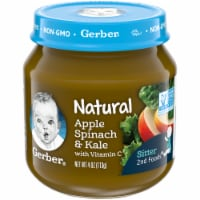 Gerber 2nd Foods Natural Apple Spinach & Kale Stage 2 Baby Food