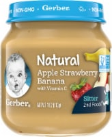 Gerber 2nd Foods Natural Apple Strawberry Banana Stage 2 Baby Food