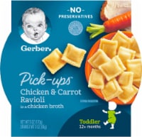 Gerber Toddler Pick-Ups Chicken & Carrot Ravioli Pasta Baby Food