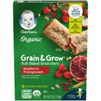 Gerber Organic Grain & Grow Raspberry Pomegranate Soft Baked Grain Bars