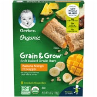 Gerber Organic Grain & Grow Banana Mango Pineapple Soft Baked Grain Bars