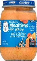 Gerber® 3rd Foods Mealtime for Baby Mac & Cheese with Vegetables Baby Food - 6 oz