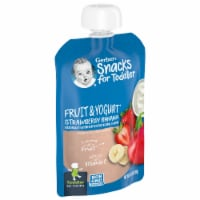 Gerber Toddler Fruit & Yogurt Strawberry Banana Food Pouch