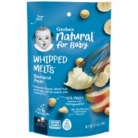 Gerber Natural for Baby Banana Pear Natural Whipped Melts