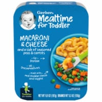 Gerber Toddler Macaroni & Cheese with Seasoned Peas & Carrots Lil' Entree