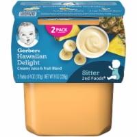 Gerber 2nd Foods Hawaiian Delight Creamy Juice & Fruit Blend Stage 2 Baby Food