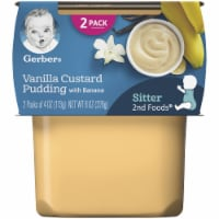 Gerber 2nd Foods Vanilla Custard Pudding with Banana Baby Food