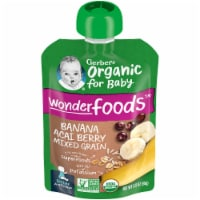 Gerber Organic 2nd Foods Banana Acai Berry Mixed Grain Baby Food