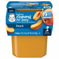 Gerber® 2nd Foods® Peach Stage 2 Baby Food - 2 ct / 4 oz