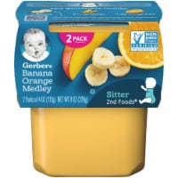 Gerber 2nd Foods Banana & Orange Medley Baby Food 2 Count