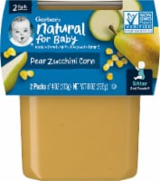 Gerber 2nd Foods Pear Zucchini Corn Baby Food 2 Count