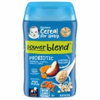 Gerber Power Blend Oatmeal Lentil Carrots & Apples Baby Food Cereal