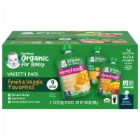 Gerber Organic Variety Pack Baby Food 9 Count