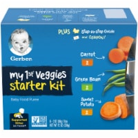 Gerber My 1st Veggies Starter Kit Baby Food Puree Multipack