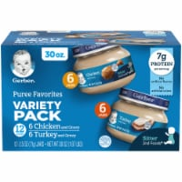 Gerber 2nd Foods Puree Favorites Chicken and Turkey Variety Pack - 12 ct / 2.5 oz