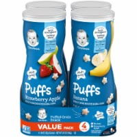 Gerber Crawler Puffs Banana Strawberry Apple Value Pack