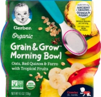 Gerber Organic Crawler Grain & Grow Tropical Fruits Morning Bowl Baby Food