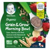 Gerber Organic Crawler Grain & Grow Banana and Summer Berries Morning Bowl Baby Food