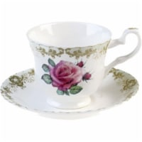 Roy Kirkham ER2707 230 ml Vintage Roses Teacup & Saucer - Set of 2