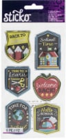 Sticko Dimensional Stickers-Back To School, 6/Pkg - 1