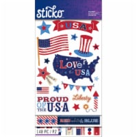 Sticko Themed Flip Pack Stickers 148/Pkg-Patriotic - 1