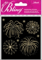 Jolee's Bling Stickers-Gold Fireworks - 1