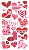 American Crafts Funky Hearts Stickers - 1 ct