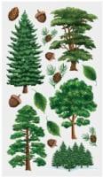 EK Success Sticko Majestic Trees Sticker Sheet - 16 pc