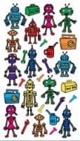 EK Success Sticko Colorful Robots Sticker Sheet - 29 pc