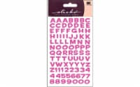 Sticko Funhouse Metallic Alpha Sticker Sheet - Pink - 1 ct