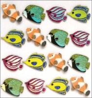 Jolee's Mini Repeats Stickers-Fish - 1