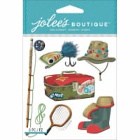 Jolee's Boutique Dimensional Stickers-Fishing - 1