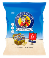 Pirate's Booty Aged White Cheddar Rice & Corn Puffs Bags 6 Count - 6 oz