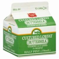 Meadow Gold Cultured Lowfat Buttermilk - Half Pint