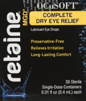 OCuSOFT Retaine MGD Complete Dry Eye Relief Lubricant Drops 30 Count