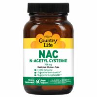 Country Life NAC N-Acetyl Cysteine Vegetarian Capsules 750mg