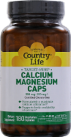 Country Life Calcium 500 mg & Magnesium 250 mg Vegetarian Capsules