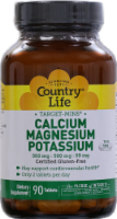 Country Life Calcium 500 mg Magnesium 500 mg & Potassium 99 mg Thin Tablets
