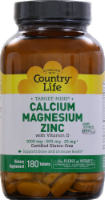 Country Life Calcium 1000 mg Magnesium 500 mg & Zinc 25 mg with Vitamin D Thin Tablets