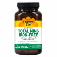 Country Life Total Mins Iron-Free with Boron and Vitamin D Vegetarian Capsules
