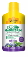 Country Life Calcium 1000 mg Magnesium 500 mg with Vitamin D3 400 IU Wild Blueberry Liquid