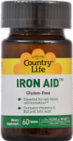 Country Life Iron Aid 15 mg Gluten Free Tablets