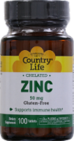 Country Life Chelated Zinc 50 mg Tablets